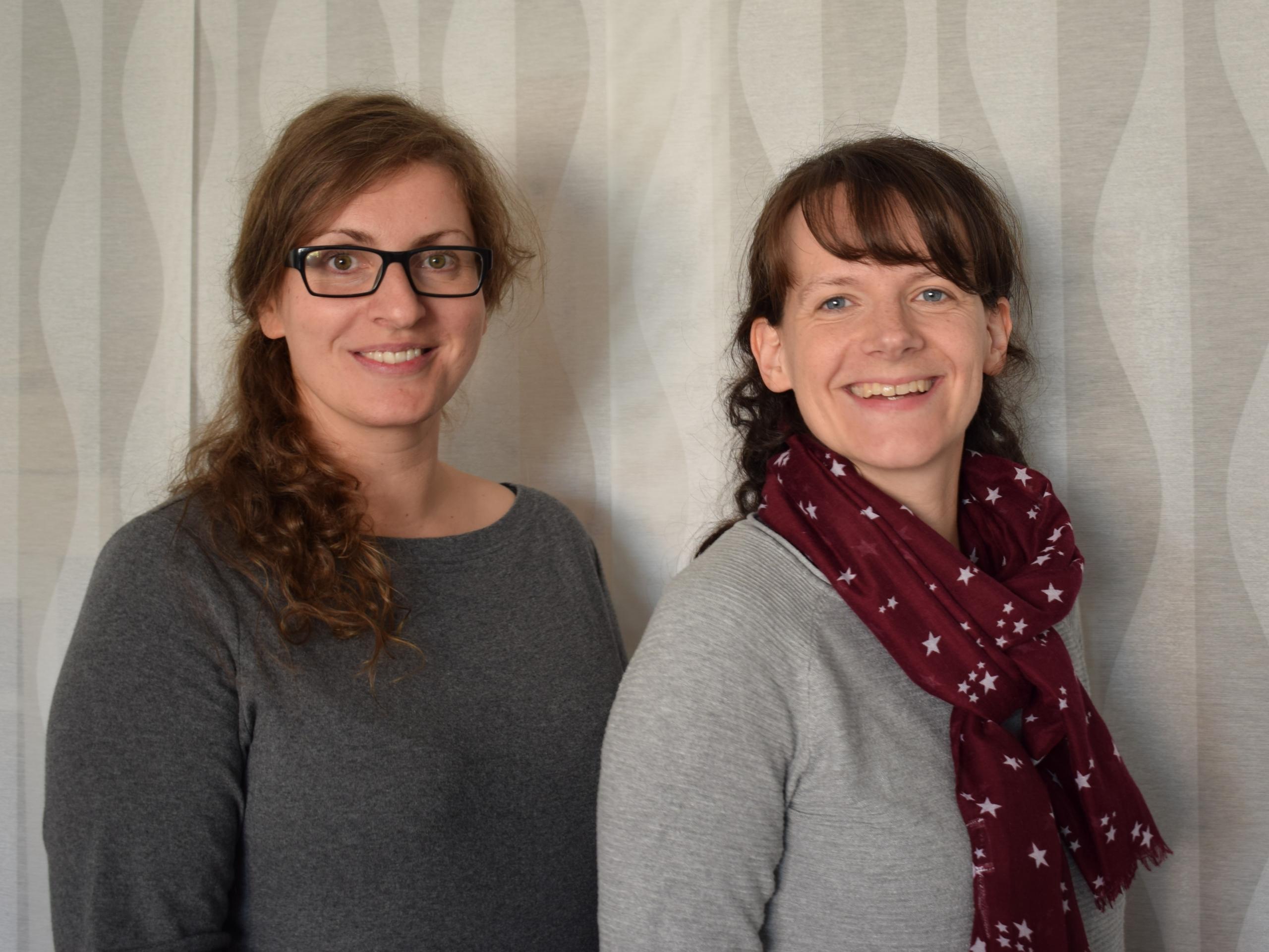 zwei Beraterinnen der EUTB des Vogtlandkreises welche beim VITAL e.V. angesiedelt ist